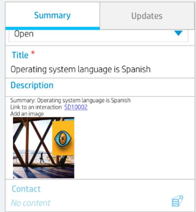 HTML Viewer control widget on a Mobile Applications form: HP Service Manager Mobile Applications (9.40) Page