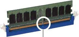 press the retaining clips outward to unlock the DIMM. 1 2 DDR2 DIMM notch 1 1