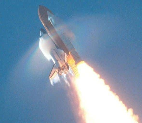 Space Shuttle breaking the SOUND BARRIER LIGHT BARRIER - The Great Wall of Human Perception