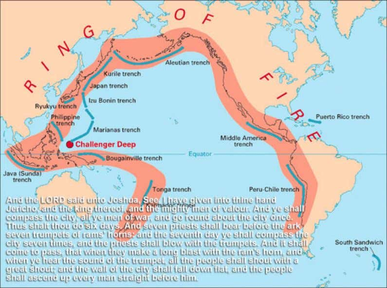 The Pacific RING OF FIRE Trumpets-and-Earth-Tremors- the-Destruction-of-Jericho The Walls of Jericho: Now Jericho was