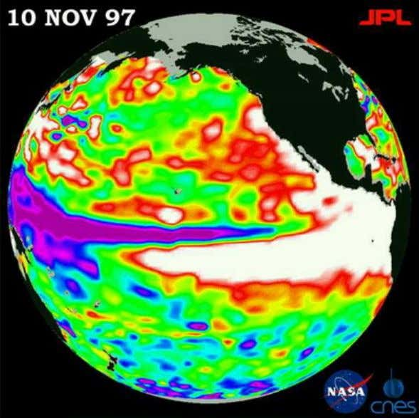 Inner-core anisotropy and hemisphericity El Nino - 10 Nov 1997 (Photo: NASA/CNES/JPL) How the Sun affects