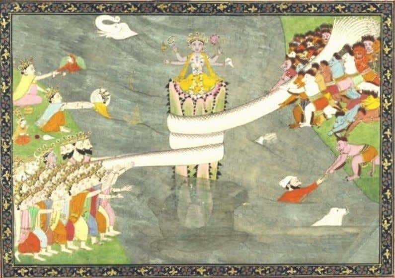 shivering and contortions Kundalini - The Serpent of Light Samudra manthan - Churning of the ocean