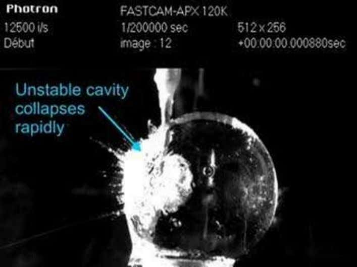 Implosion of a star Cavitation in Microgravity (Video: ESA, Danail Obreschkow, Philippe Kobel) Acoustic Cavitation and
