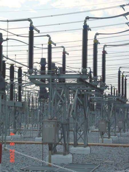 of a Substation: Disconnect Switches : Provides a visual means of isolating a circuit. Usually operated