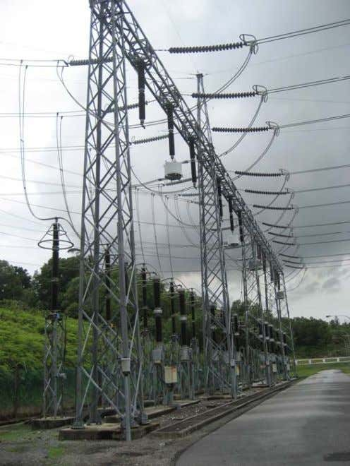 of a Substation: Line Traps : Used in Power Line Carrier application for telecommunication between substations