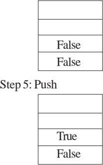 False False Step 5: Push True False