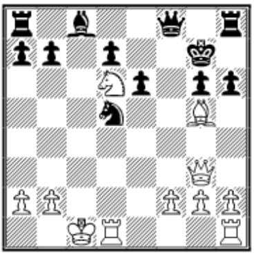 squares he can't get his queenside pieces out. 17 0-0-0 h6 18 Rxd5! Removing a key