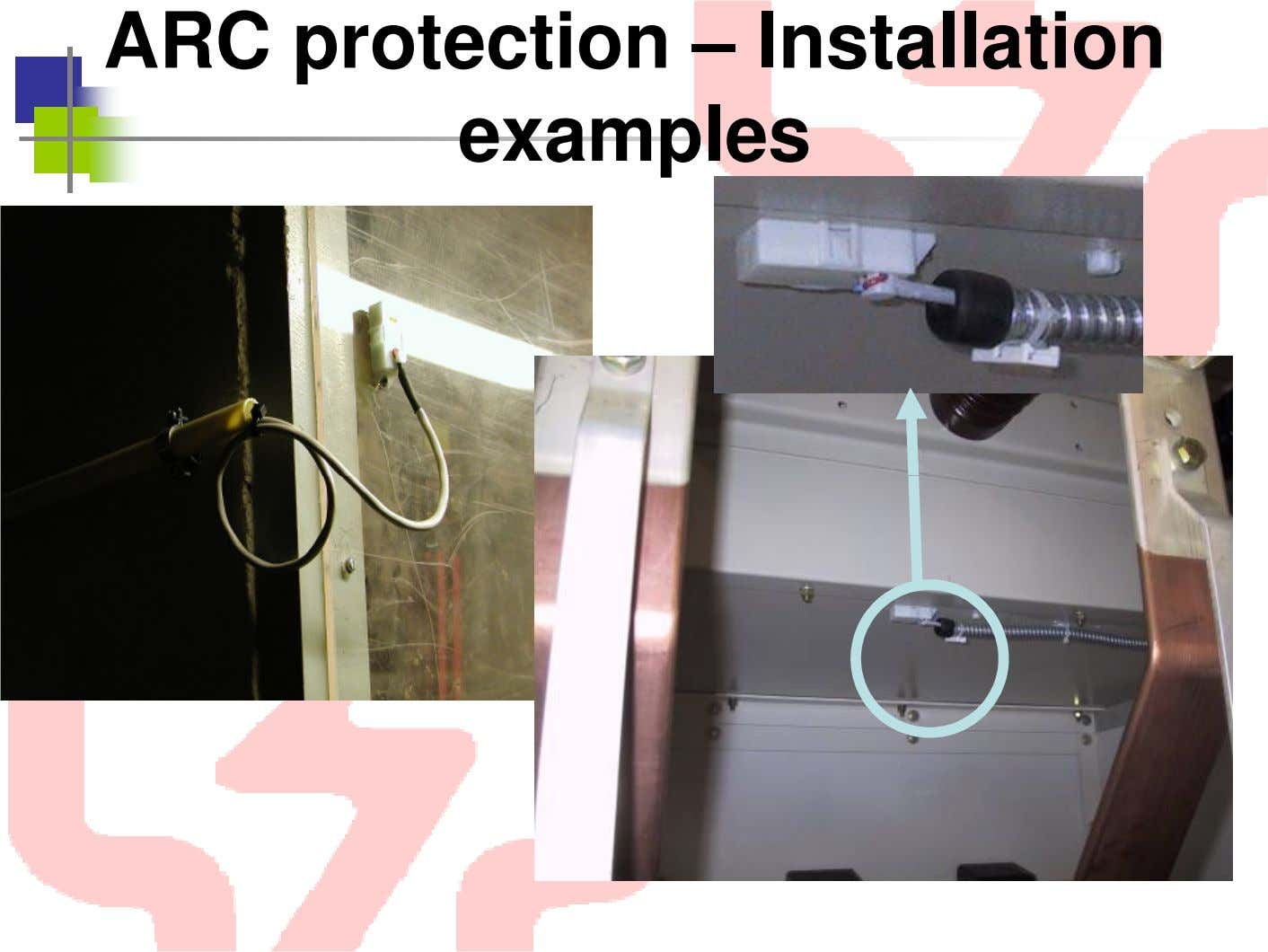ARC protection – Installation examples