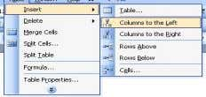 Modul Belajar Microsoft Word 2003 4. Pilih Columns to the left atau Columns to the Right