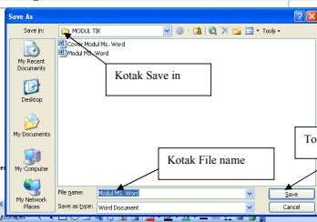 Kotak Save in Kotak File name