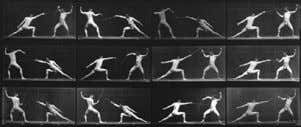 Ilustraciones del Libro Timing for animation . Eadweard Muybridge Corcoran Gallery of Art, Washington D.C. Instalacion