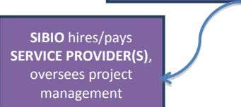 SIBIO hires/pays SERVICE PROVIDER(S), oversees project management