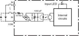 IN Input LED 1000 pF 3.0 kΩ Internal IN circuits COM 4.3 kΩ