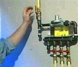 Procedures Used to Pressure Test Propane Piping To test lines in a 2-psi system that uses