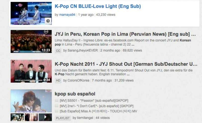 "looking for, followed by the abbreviation, ""eng sub."" Picture 15: The fan-subbing phenomenon. (YouTube screenshot)"