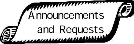 Announcements and Requests
