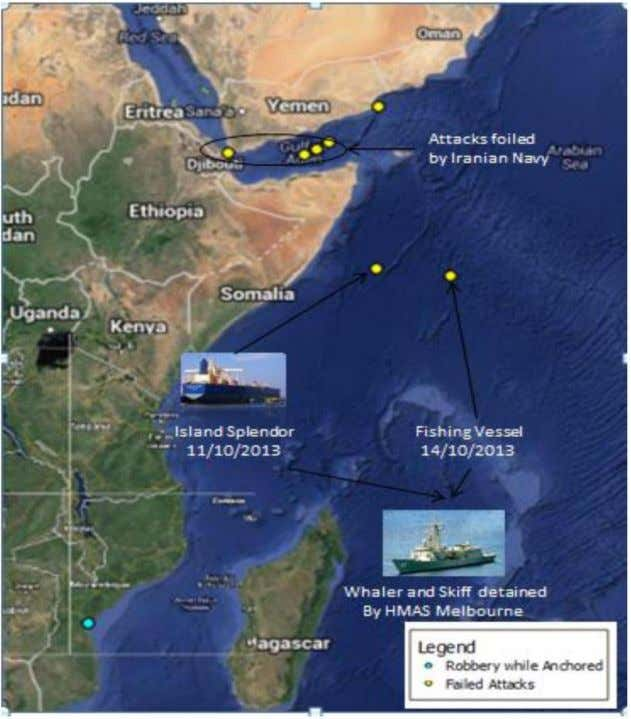 Attacks East Africa and the HRZ (source: Suritec ) Incidents in West Africa – October
