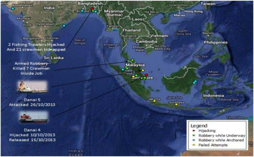 Incidents Southeast Asia – October 2013 (source: Suritec ) Incidents in South America (source: Suritec