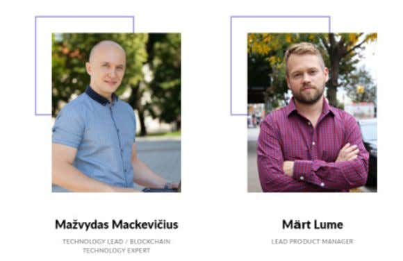 The Team The team behind the Debitum Network who is working on making the project happen: