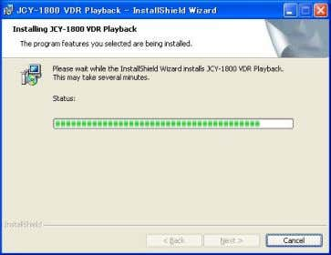 (7) Install is started, and progress bar is indicated. (8) The Install Shield Wizard completion scr