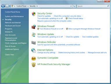 "・ Click "" Turn Windows Firewall on or off"". Control Panel Security Turn Windows Firewall on"