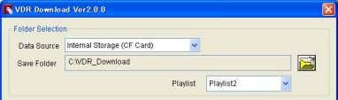 "Refer to ""4.2 Folder Compos ition"" for more detail. Folder Selection button Playlist Playback Software /"