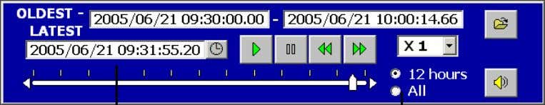 (4) Selected date is indicated in the Playback time Slide bar select button Playback time (5)