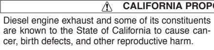 CALIFORNIA PROPOSITION 65 WARNINGS T h e e n g i n e ex h a