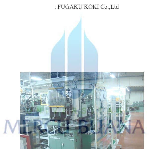 : FUGAKU KOKI Co.,Ltd : 1991 : 750 mm x 1950 mm x 1880 mm