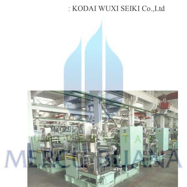 : KODAI WUXI SEIKI Co.,Ltd : 2012 : 1950 mm x 3010 mm x 1890
