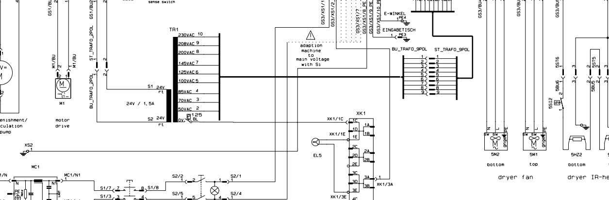 COMPLETE MACHINE DIAGRAM 9462 / 106 Curix 60 200 - 240V 50/60Hz 9462 / 206