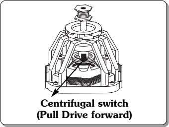 Centrifugal switch (Pull Drive forward)