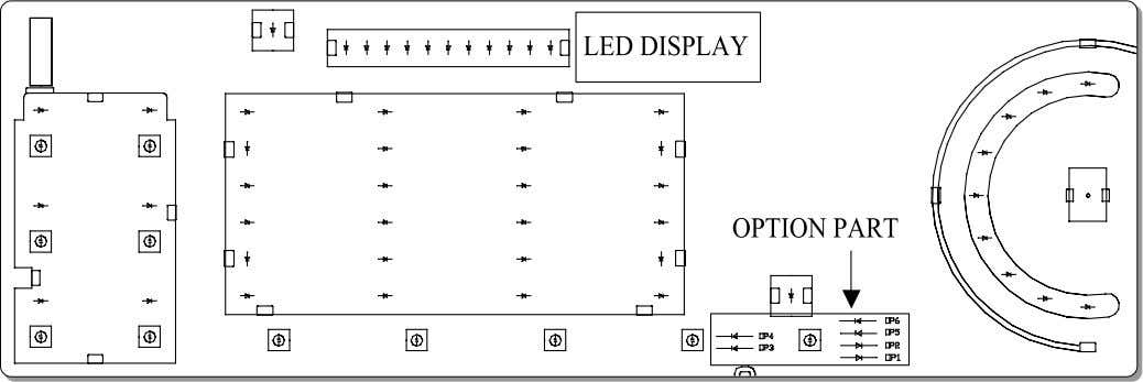 7 CONTROL LAY -OUT PWB ASSEMBLY DISPLAY LAY-OUT MODEL DISPLAY AS DIAGNOSTIC TEST MODEL   OPTION