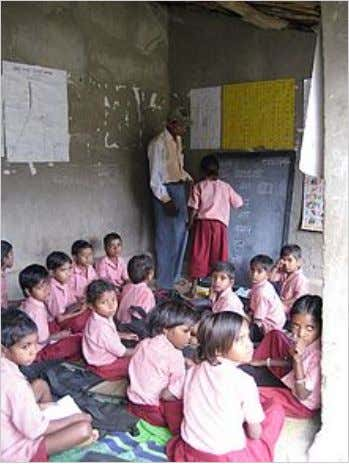 Non-formal education center in Udaipur, Rajasthan. Educational program by Seva Mandir, an NGO working for