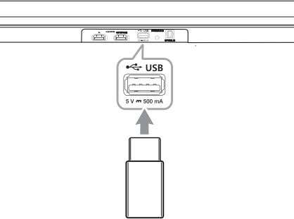 USB memory device to the USB port on the back of the unit. For more information