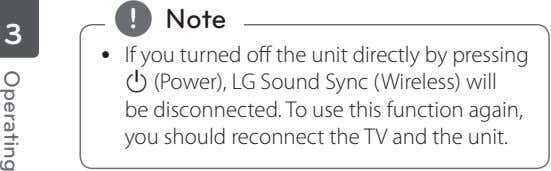 , Note 3 y If you turned off the unit directly by pressing 1 (Power),