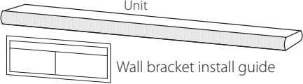 Unit Wall bracket install guide