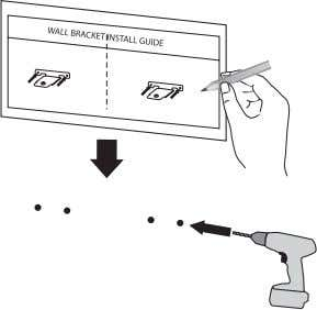 install guide) is supplied to drill. Use the sheet to check the point to drill. 3.