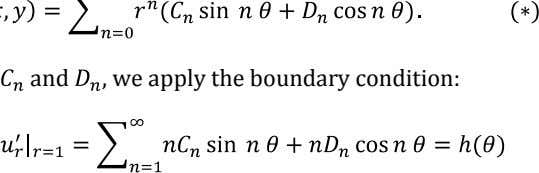 and , we apply the boundary condition: