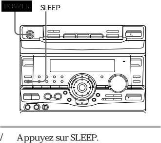 "POWER SLEEP 0 ) "" Æ' ⁄ / Appuyez sur SLEEP."