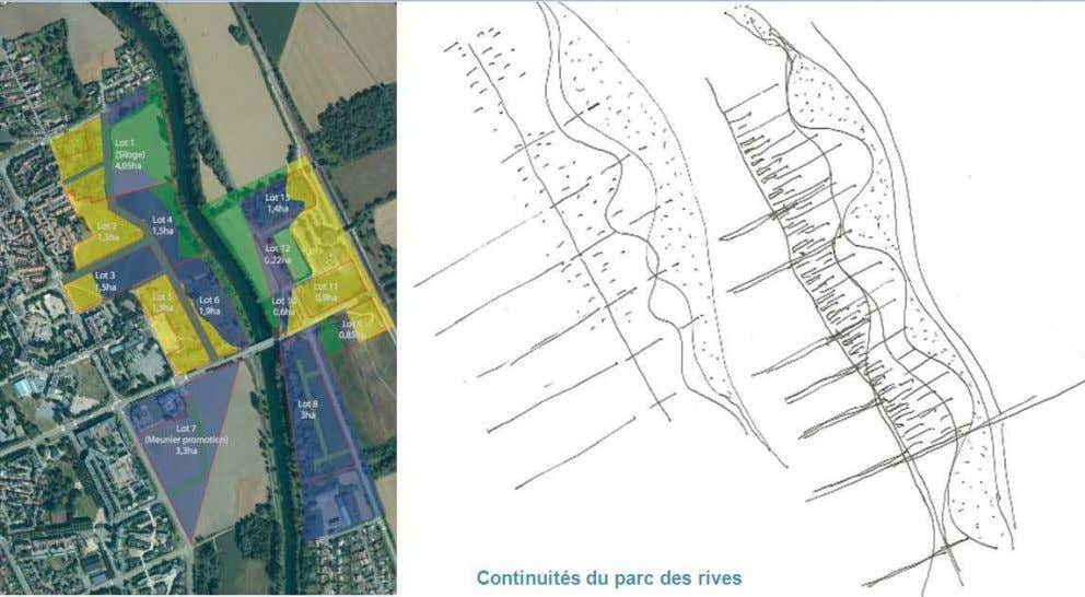 ZAC DES NOES : Eco village = Ilot 1 de 4, 05 ha dont 2 inondables