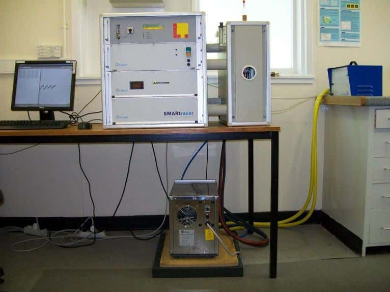 "NMR console for carrying out NMR measurements. [ 2 3 ] Figure 3.1: ""Stelar SMARtracer FFC"