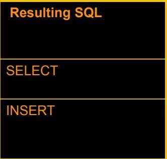 Online Page Action Command Resulting SQL Retrieve data from the search page in an Update mode.