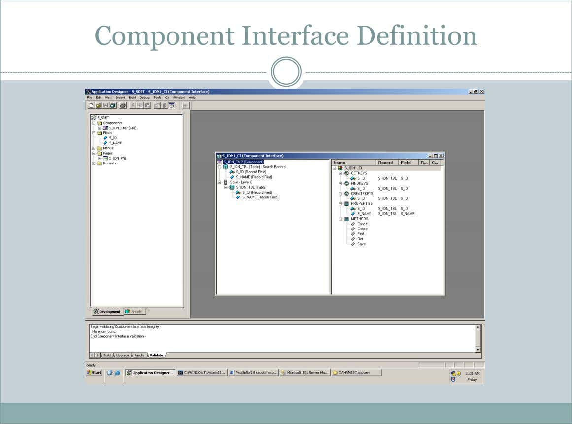 Component Interface Definition