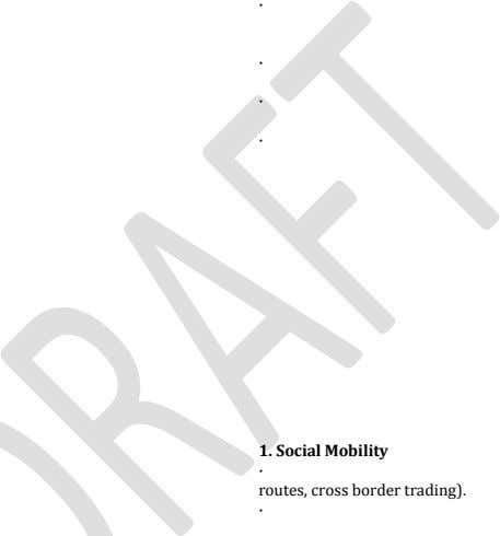 · · · · 1. Social Mobility · routes, cross border trading). ·