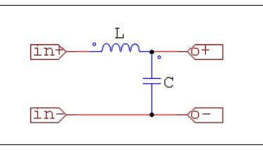 """LC_filter.sch"", and its image are shown below: In this case, the inductance and capacitance values will"