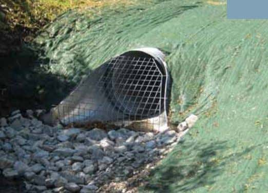 wide opening minimizes collection of debris and silting. End sections provide protection against erosion and scouring.