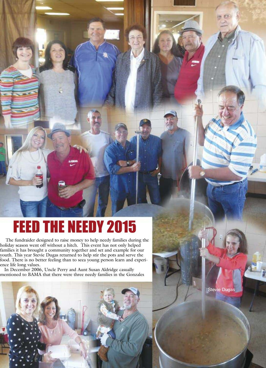 FEED THE NEEDY 2015 The fundraider designed to raise money to help needy families during