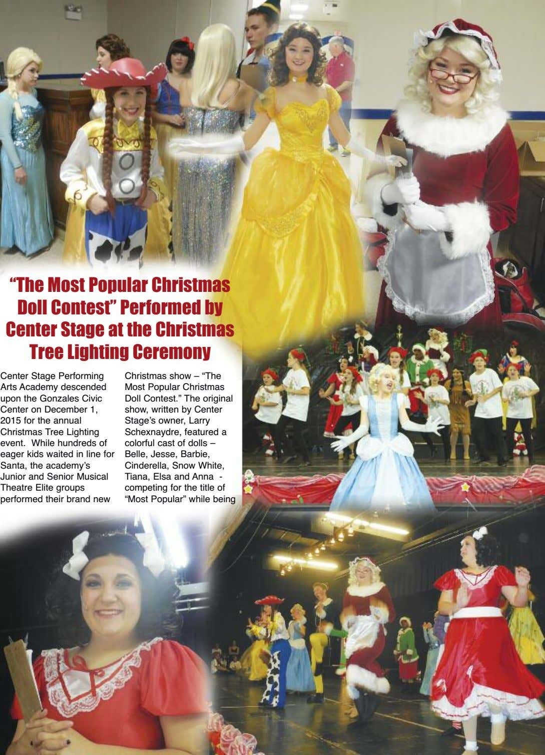 """The Most Popular Christmas Doll Contest"" Performed by Center Stage at the Christmas Tree Lighting"