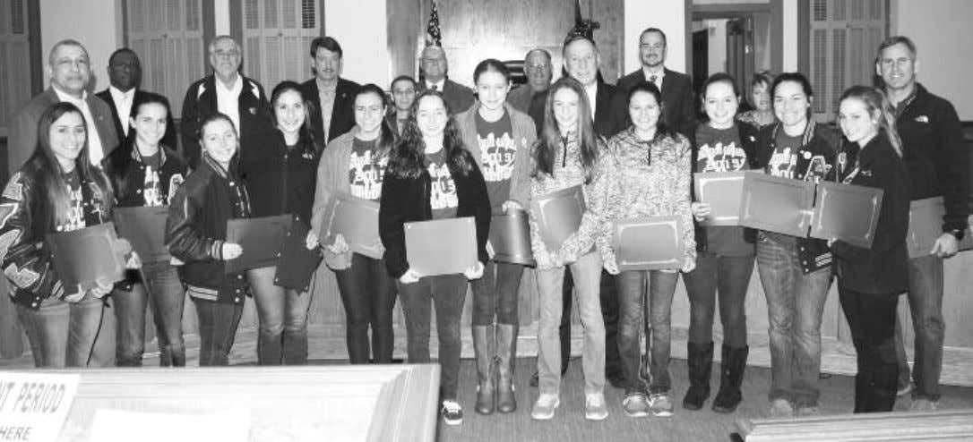 Ascension Catholic Girls Cross Country Team Recognized at Parish Council Meeting Ascension Parish President Tommy